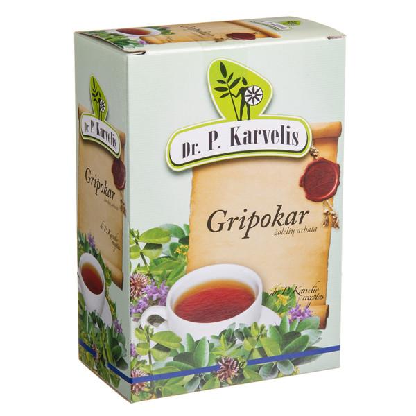 DR. P. KARVELIS GRIPOKAR, žolelių arbata, 50 g paveikslėlis