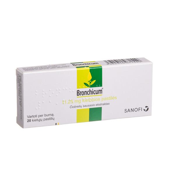 BRONCHICUM, 11,25 mg, kietosios pastilės, N20  paveikslėlis