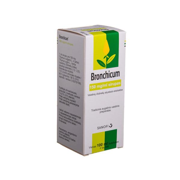 BRONCHICUM, 150 mg/ml, sirupas, 100 ml ir dozavimo taurelė, N1 paveikslėlis
