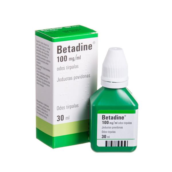 BETADINE, 100 mg/ml, odos tirpalas, 30 ml  paveikslėlis