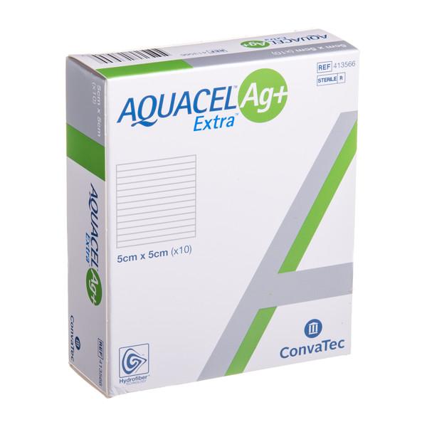 CONVATEC AQUACEL AG+ EXTRA, tvarstis, 5 x 5 cm, 10 vnt. paveikslėlis