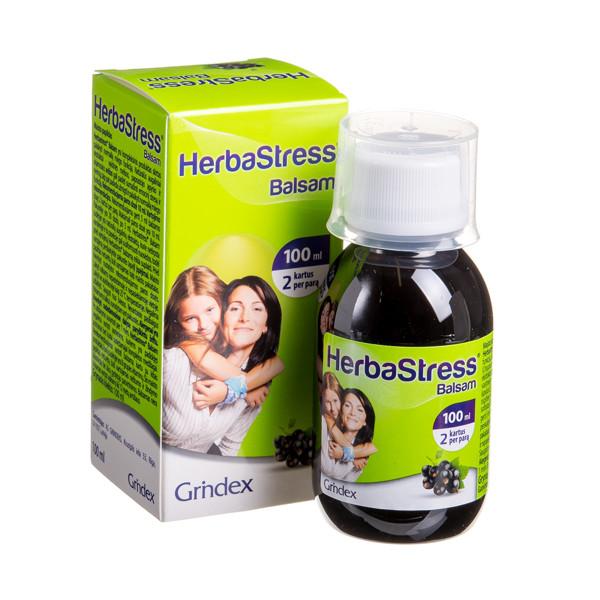 HERBASTRESS BALSAM, sirupas, 100 ml (Galioja iki 2021 09 30) paveikslėlis