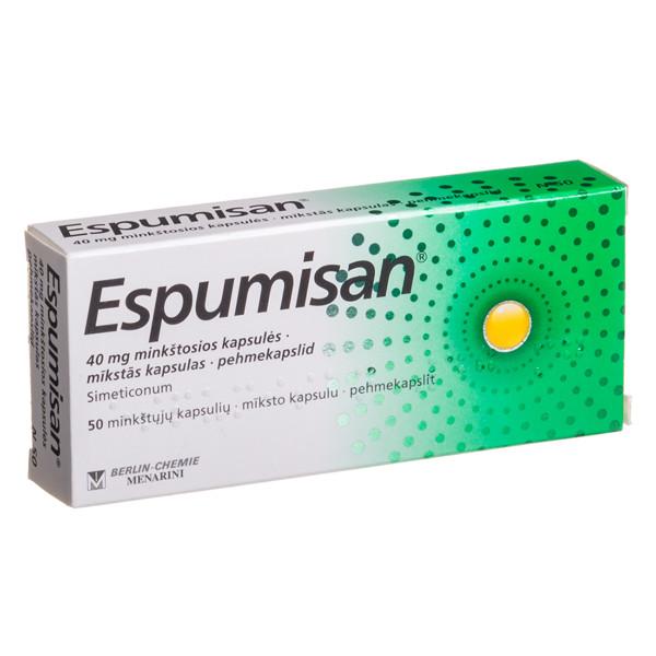 ESPUMISAN, 40 mg, minkštosios kapsulės, N50  paveikslėlis