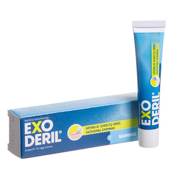 EXODERIL, 10 mg/g, kremas, 15 g  paveikslėlis
