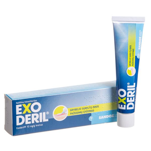 EXODERIL, 10 mg/g, kremas, 30 g  paveikslėlis
