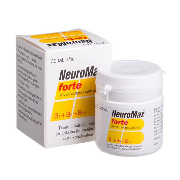 NEUROMAX FORTE, plėvele dengtos tabletės, N30  paveikslėlis