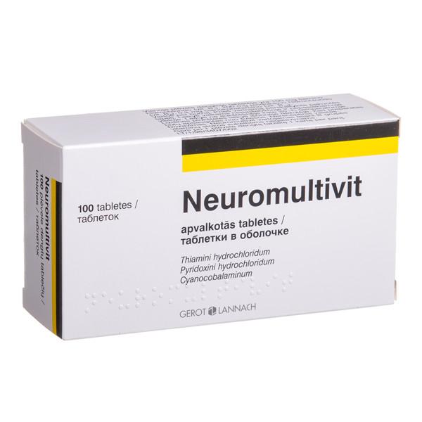 NEUROMULTIVIT, plėvele dengtos tabletės, N100  paveikslėlis