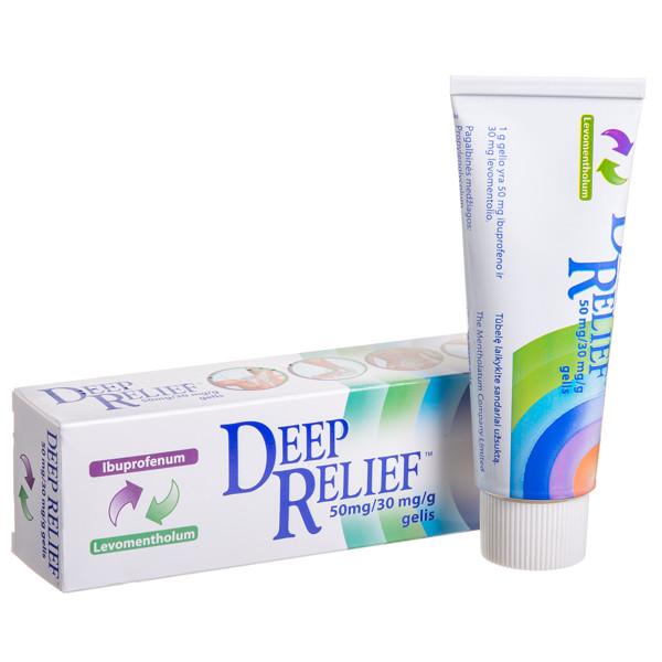 DEEP RELIEF, 50 mg/30 mg/g, gelis, 50 g  paveikslėlis
