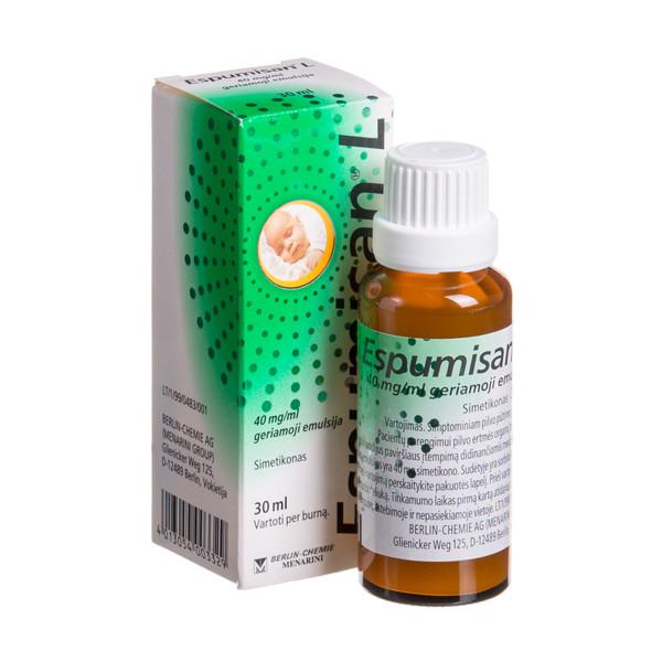ESPUMISAN L, 40 mg/ml, geriamoji emulsija, 30 ml  paveikslėlis