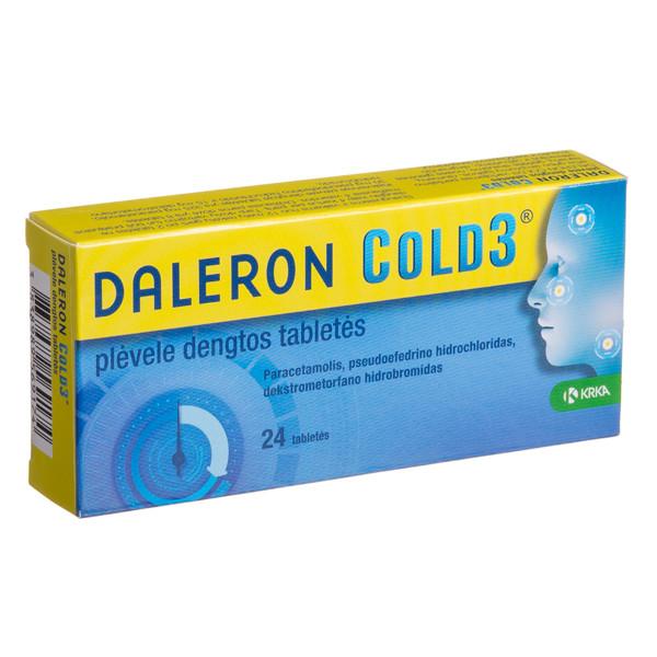 DALERON COLD3, plėvele dengtos tabletės, N24  paveikslėlis
