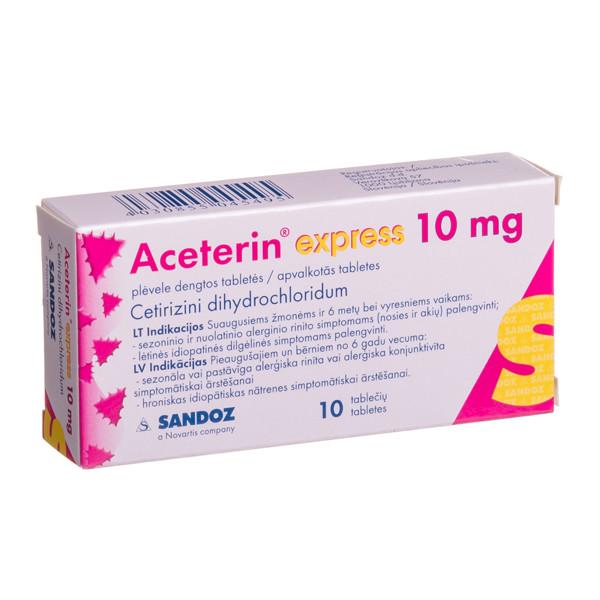 ACETERIN EXPRESS, 10 mg, plėvele dengtos tabletės, N10  paveikslėlis
