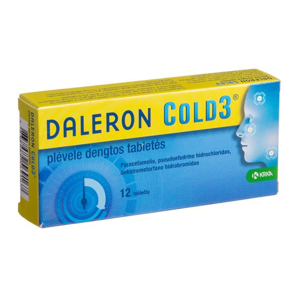 DALERON COLD3, plėvele dengtos tabletės, N12  paveikslėlis