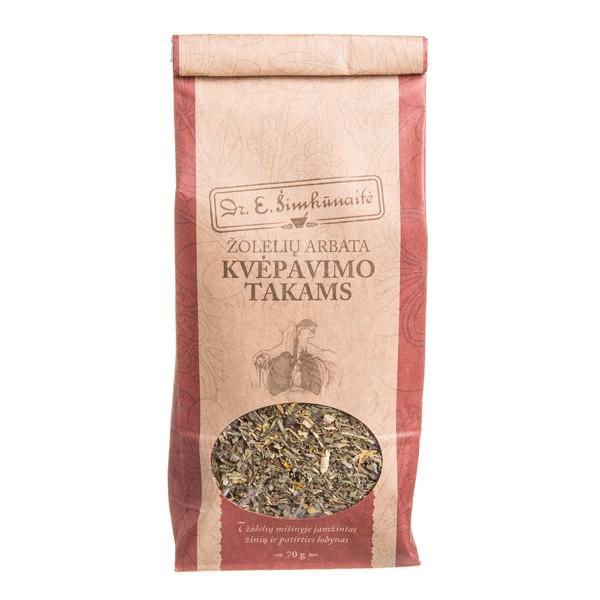DR. E. ŠIMKŪNAITĖ KVĖPAVIMO TAKAMS, žolelių arbata, 70 g paveikslėlis