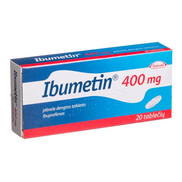 IBUMETIN, 400 mg, plėvele dengtos tabletės, N20 paveikslėlis