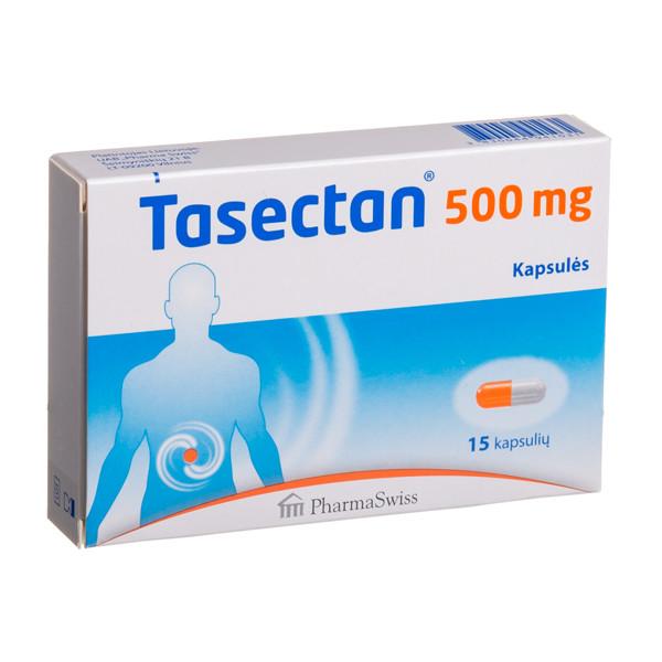PHARMASWISS TASECTAN, 500 mg, 15 kapsulių paveikslėlis