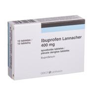 IBUPROFEN LANNACHER, 400 mg, plėvele dengtos tabletės, N10  paveikslėlis