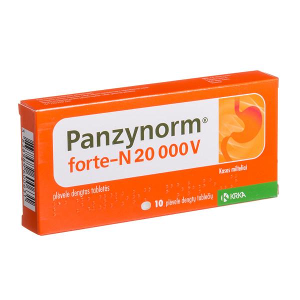 PANZYNORM FORTE-N, 20 000 V, plėvele dengtos tabletės, N10 paveikslėlis