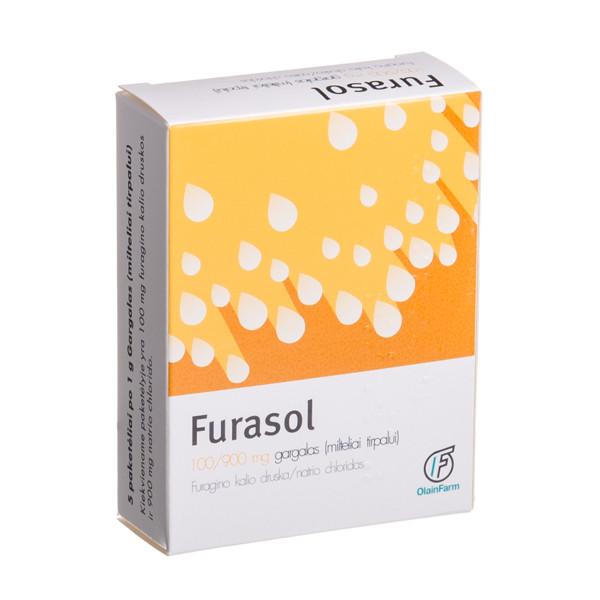 FURASOL, 100/900 mg, gargalas, milteliai tirpalui, N5 paveikslėlis
