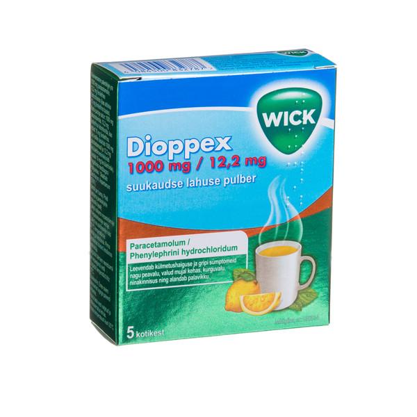 DIOPPEX, 1000 mg/12,2 mg, milteliai geriamajam tirpalui, N5  paveikslėlis