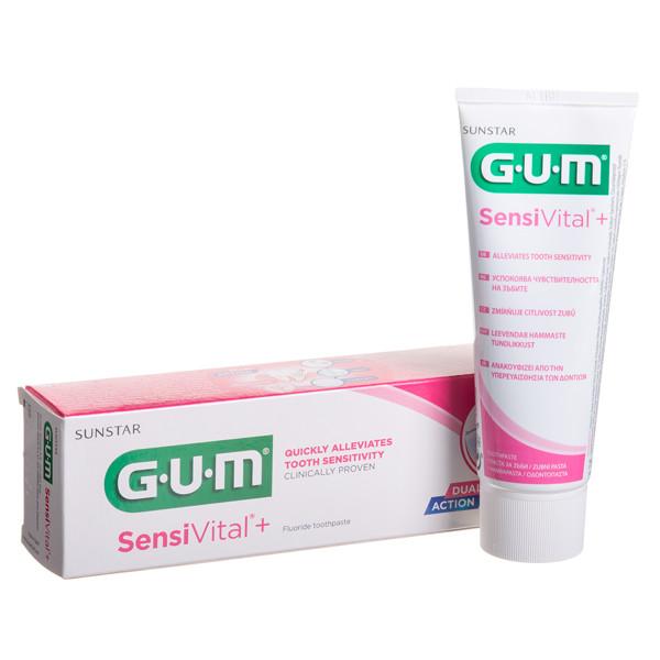 GUM (6070) SENSIVITAL+, dantų pasta, kasdienė jautrių dantų ir dantenų apsauga, 75 ml paveikslėlis