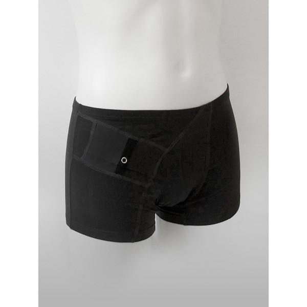 ANNAPS vyriški šortukai / trumpikės su kišene insulino pompai, juoda, XL, 1 vnt paveikslėlis