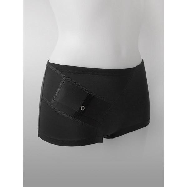 ANNAPS moteriškos kelnaitės / šortukai su kišene insulino pompai,  juoda, M, 1 vnt. paveikslėlis