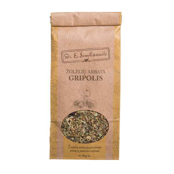 DR. E. ŠIMKŪNAITĖ GRIPOLIS, žolelių arbata, 70 g paveikslėlis