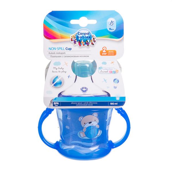 CANPOL BABIES SWEET FUN, neišsipilantis puodelis, mėlynas, 57/300, 180 ml paveikslėlis