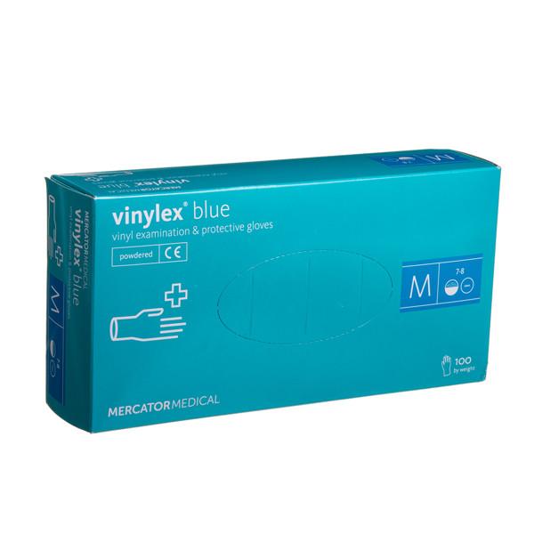 VINYLEX BLUE, vinilinės pirštinės su pudra, M, 100 vnt. paveikslėlis