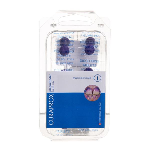 CURAPROX PCA223, tabletės apnašų indikacijai, 12 tablečių | Gintarinė