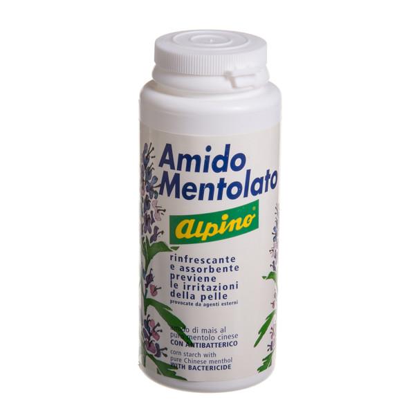 """ALPINO AMIDO MENTOLATO, """"sausas kremas"""" nuo prakaitavimo, niežulio bei nemalonaus - greitai absorbuojantis, iš natūralios kilmės medžiagų, 100 g paveikslėlis"""