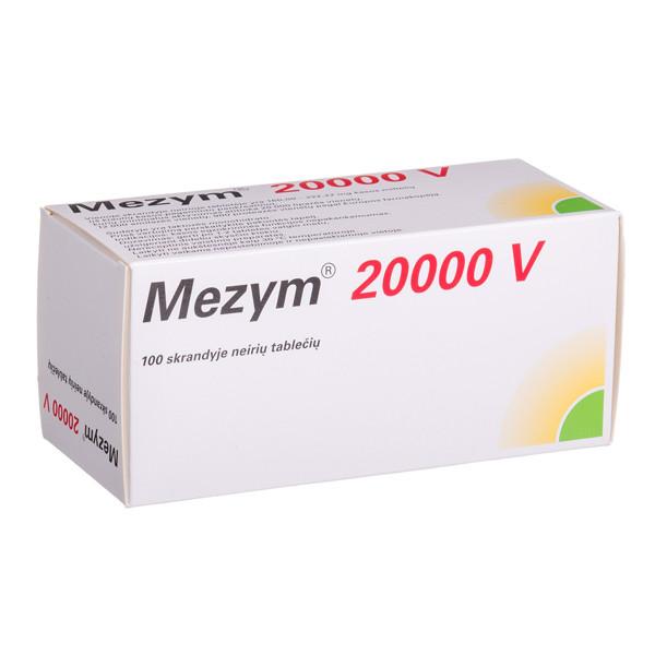 MEZYM, 20000 V, skrandyje neirios tabletės, N100  paveikslėlis