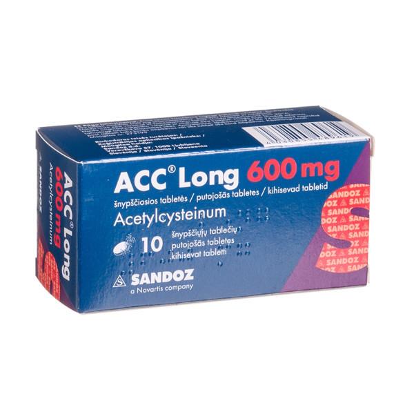 ACC LONG, 600 mg, šnypščiosios tabletės, N10  paveikslėlis