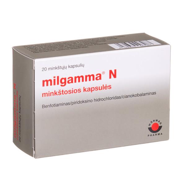 MILGAMMA N, minkštosios kapsulės, N20  paveikslėlis