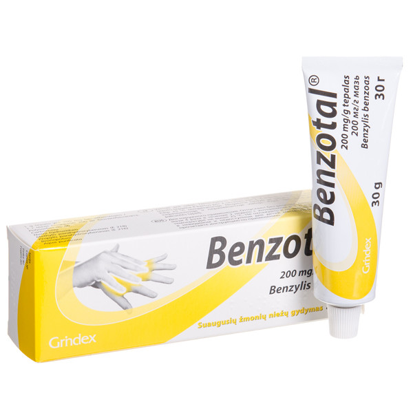 BENZOTAL, 200 mg/g, tepalas, 30 g paveikslėlis