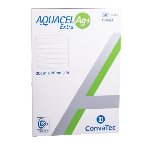 CONVATEC AQUACEL AG+ EXTRA, tvarstis, 20 x 30 cm, 5 vnt. paveikslėlis