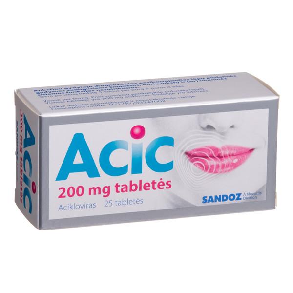 ACIC, 200 mg, tabletės, N25  paveikslėlis