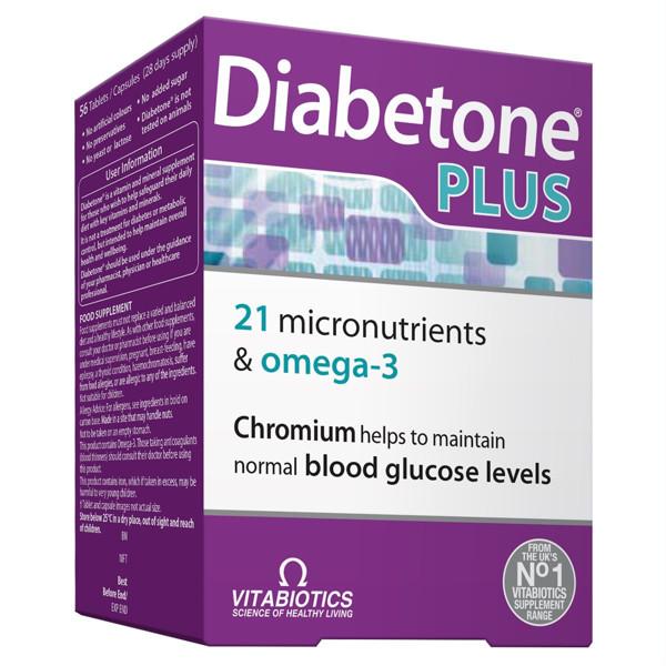 DIABETONE PLUS, 28 tabletės, 28 kapsulės paveikslėlis