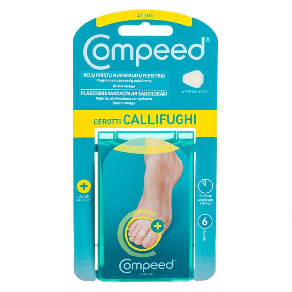 COMPEED, pleistrai su salicilo rūgštimi, kojų pirštų nuospaudų, maži, 6 vnt. paveikslėlis