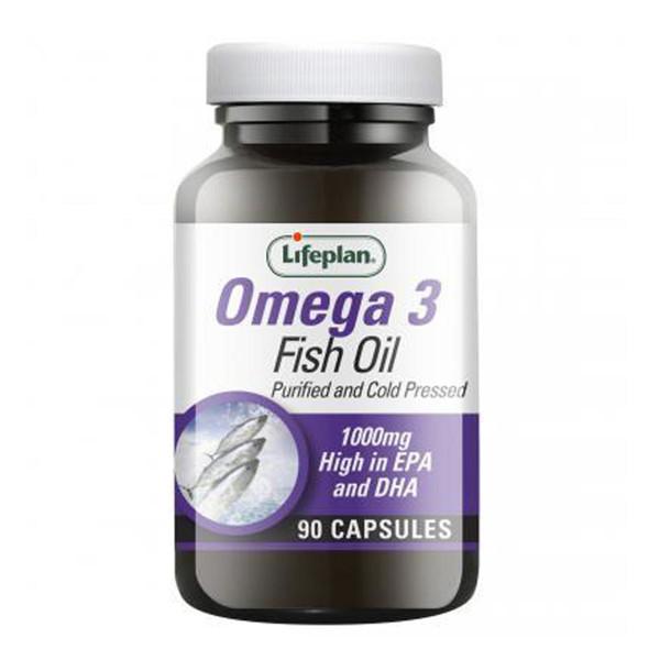 LIFEPLAN OMEGA-3 FISH OIL, omega-3 žuvų taukai, 1000/300mg , 90 kapsulių paveikslėlis
