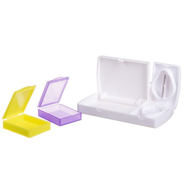 Dėžutė vaistams, 2 dalių, kišeninė su peiliuku  paveikslėlis