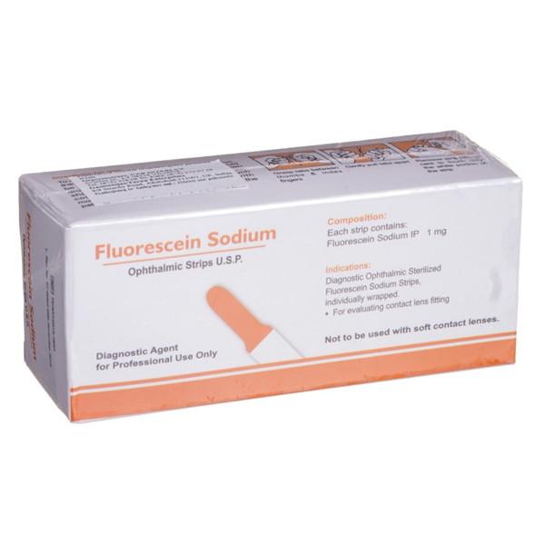 FLUORESCEIN-TEST STRIPS, diagnostinis testas, 100 vnt. paveikslėlis