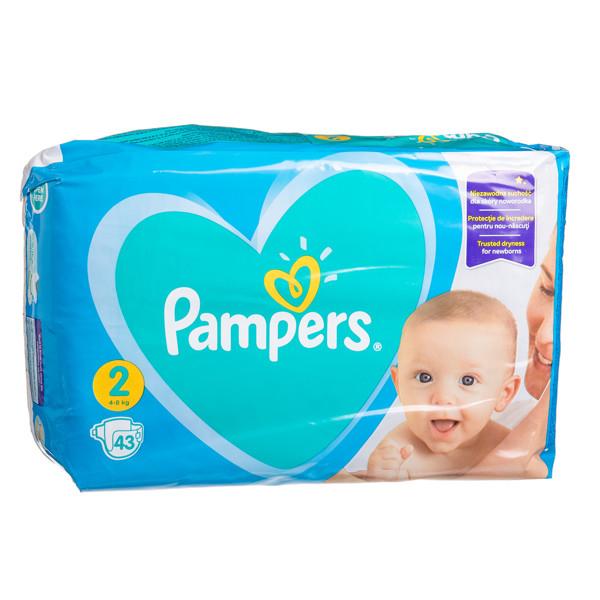 PAMPERS NEW BABY, sauskelnės, 2 dydis, 4-8 kg, 43 vnt. paveikslėlis