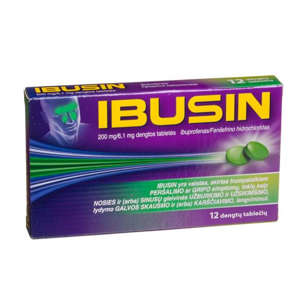 IBUSIN, 200 mg/6,1 mg, dengtos tabletės, N12 paveikslėlis