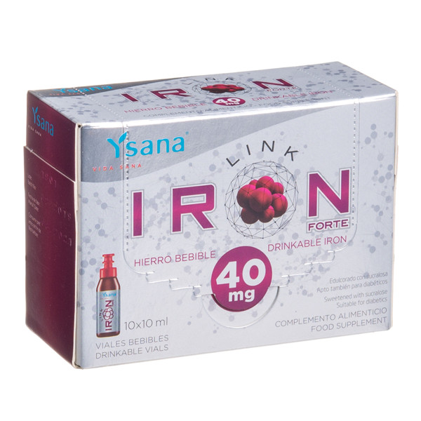 IRONLINK FORTE, 40 mg, 10 ml, 10 vnt. paveikslėlis