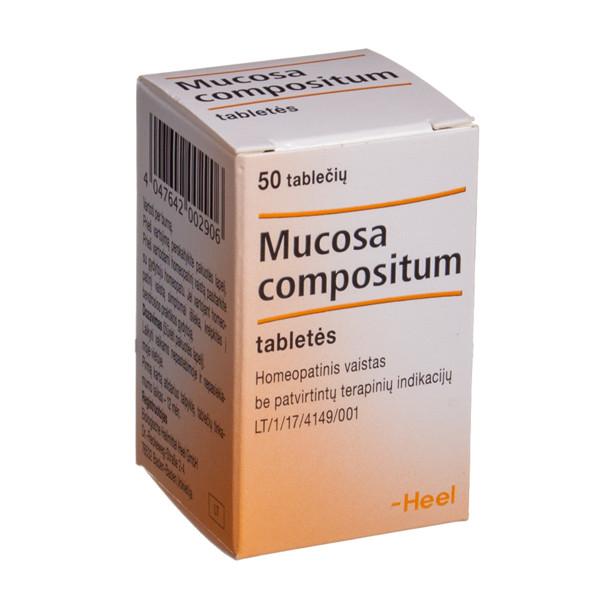 MUCOSA COMPOSITUM, tabletės, N50 paveikslėlis