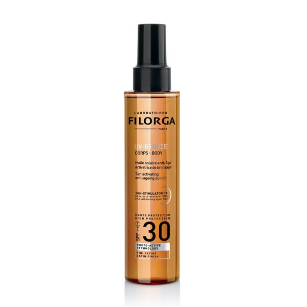 FILORGA UV-BRONZE, aliejus kūnui, SPF30+, 150 ml paveikslėlis