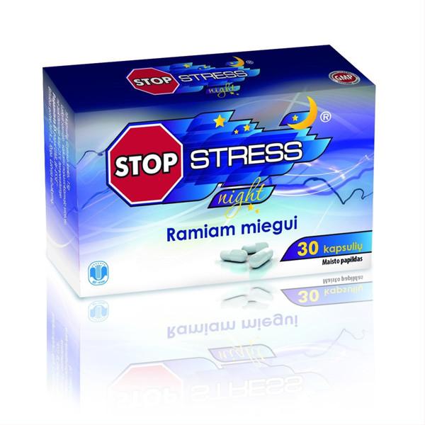 BF-ESSE STOP STRESS NIGHT, 30 kapsulių paveikslėlis