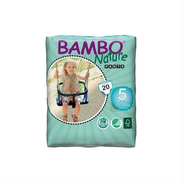 BAMBO NATURE PANTS JUNIOR, sauskelnės-kelnaitės, 20 vnt. paveikslėlis