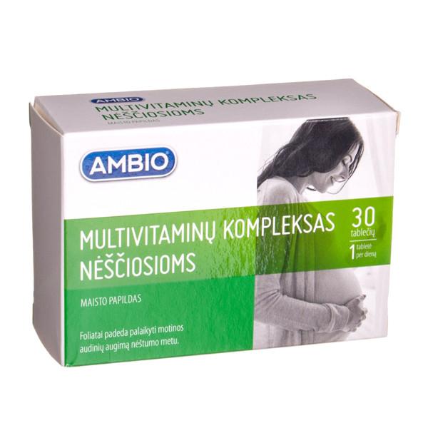 AMBIO MULTIVITAMINŲ KOMPLEKSAS NĖŠČIOSIOMS, 30 tablečių paveikslėlis